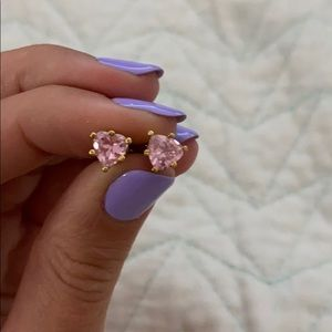 Juicy Couture Pink Heart Studs